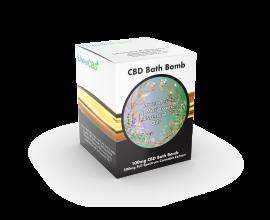 LVWell CBD - Bath Bomb - Lavender & Marjoram - 500mg Full Spectrum Extract / 100mg CBD - 1 x Single