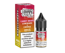 Moreish Puff Salts | Candy Drops | Lemonade & Cherry | 10ml Single | 10mg / 20mg Nicotine Salts