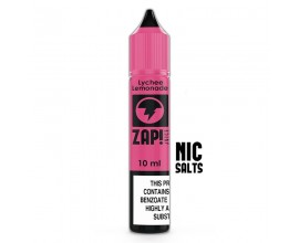ZAP! Juice Nicotine Salts | Lychee Lemonade | 10ml Single | 10mg / 20mg Nicotine Salt