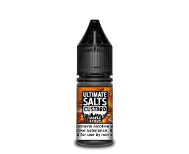 Ultimate Salts Custard | Maple Syrup | 10ml Single | 10mg / 20mg Nicotine Salt
