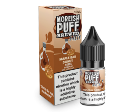 Moreish Puff Salts | Brewed | Maple Bar Donut | 10ml Single | 10mg / 20mg Nicotine Salts