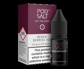 Pod Salts | Core Range | Mixed Berries Ice | 10ml Single | 11mg / 20mg Nicotine Salt