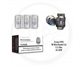 Freemax | 904L M Mesh / Kanthal Coils | Pack of 3 | 0.15 Ohm M5 Mesh