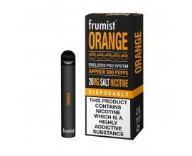 Frumist | Disposable Pod E-Cigarette Kit | 400mAh / 450-500 Puffs | 20mg Nicotine Salts | ORANGE