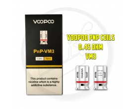Voopoo - PnP Coils ( Vinci / FIND Trio ) - Pack of 5 - 0.45 Ohm VM3