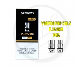 Voopoo | PnP Coils | Pack of 5 | 0.15 Ohm VM6