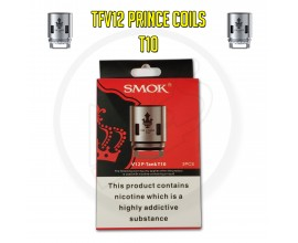 SMOK TFV12 Prince Coils - 0.12 Ohm T10 (Pack of 3)
