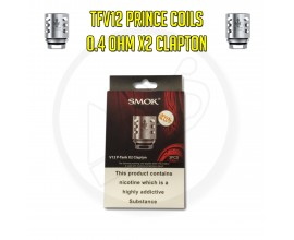 SMOK | TFV12 Prince Coils | 0.4 Ohm Clapton X2 | Pack of 3