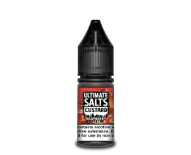 Ultimate Salts Custard | Raspberry Jam | 10ml Single | 10mg / 20mg Nicotine Salt