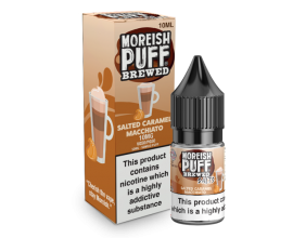 Moreish Puff Salts | Brewed | Salted Caramel Macchiato | 10ml Single | 10mg / 20mg Nicotine Salts