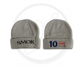 Point of Sale - Grey SMOK Wooly Hat - Embroidered 10 Year Anniversary