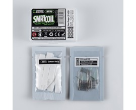 Wotofo | SMRT PnP Mesh & Cotton Set | Pack of 10 Cotton & Coil Strips | nexMESH CHILL 0.2 Ohm