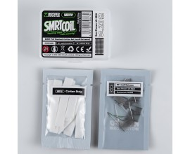 Wotofo | SMRT PnP Mesh & Cotton Set | Pack of 10 Cotton & Coil Strips | nexMESH EXTREME 0.2 Ohm