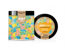Just CBD | Hemp Infused Gummies Jars | SOUR BEARS | Various Nicotine Strengths