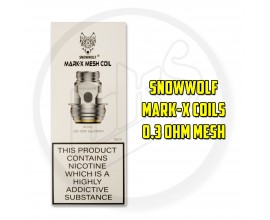 Snowwolf | Mark-X Coils | Pack of 5 | 0.3 Ohm Mesh