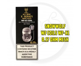 Snowwolf | WF-X1 X-Series Mesh Coils | Pack of 5 | 0.17 Ohm