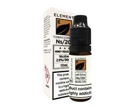 Element E-Liquids Designer Nicotine Salts | Honey Roasted Tobacco | 10ml Single | 10mg / 20mg Nicotine Salt