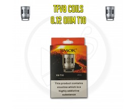 Smok TFV8 Coils - 0.12 Ohm T10 (Pack of 3)