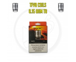 Smok TFV8 Coils - 0.15 Ohm T8 (Pack of 3)