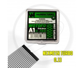 Wotofo | nexMESH Strips for the Profile V1.5 RDA / Profile RDTA | TURBO | 0.13 Ohm A1 | Pack of 10