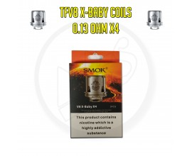 SMOK TFV8 X-Baby Coils - 0.13 Ohm X4 (Pack of 3)