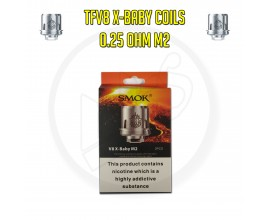 SMOK TFV8 X-Baby Coils - 0.25 Ohm M2 (Pack of 3)