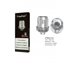 Freemax | X Mesh Coils | 0.15 Ohm X1 Single Mesh | Pack of 5
