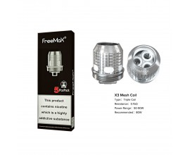 Freemax | X Mesh Coils | 0.15 Ohm X3 Triple Mesh | Pack of 5