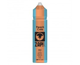 ZAP! Juice - Cola Collection - PEACH - 50ml Shortfill - ZERO Nicotine (Includes 1 x 18mg ZAP! Nic Salt Shot)