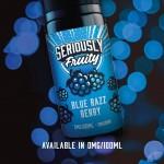 Seriously Fruity by Doozy Vape Co   Blue Razz Berry   100ml Shortfill   0mg