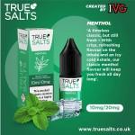 True Salts | Menthol | 10ml Single | 10mg / 20mg Nicotine Salts