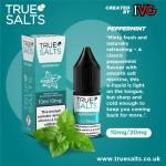 True Salts | Peppermint | 10ml Single | 10mg / 20mg Nicotine Salts