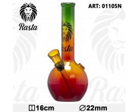 16cm Glass Rasta Bubble Waterpipe - MGB1105