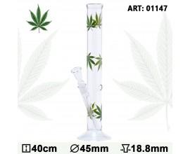 40cm Glass Multi Leaf Waterpipe - GB1147