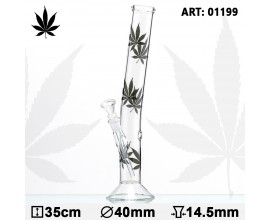 35cm Glass Multi Leaf Hangover Waterpipe - GB1199