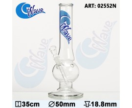 "35cm Glass ""Wave"" Bubble Waterpipe - GB2552"