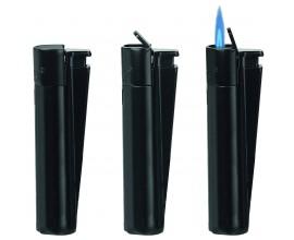 Metal Clipper Lighters | Jet Flame Black | Tray of 12 | MC1J