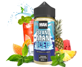 "One Hit Wonder - ""Man"" Series - ISLAND MAN ICED - 100ml Shortfill - ZERO Nicotine"