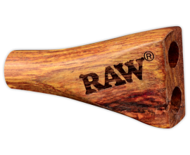 RAW - Double Barrel Wooden Cigarette Holder - 1 1/4 Size