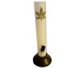 "26cm Acrylic Milk Leaf ""Straight"" Waterpipe - AWP4037"