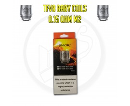 SMOK   TFV8 Baby Coils   0.15 Ohm M2   Pack of 5