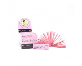 Blazy Susan | Pink Filter Rolling Tips | 50 Tips Per Booklet | Box of 25 Booklets