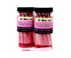 Blazy Susan | 98mm Pink Pre-Rolled Cones | Pack of 50