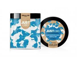 Just CBD | Hemp Infused Gummies Jars | BLUE RAZZ RINGS | Various Nicotine Strengths