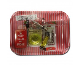 Smoking Gift Set - Small Rolling Tray & Small Waterpipe Gift Set - ROLL UP - BTSET-01