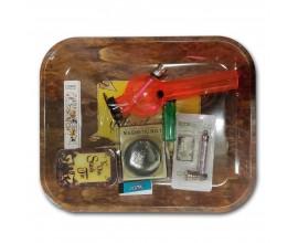 Smoking Gift Set - Large Rolling Tray & Small Waterpipe Gift Set - YE OLDE STASH - BTSET-02