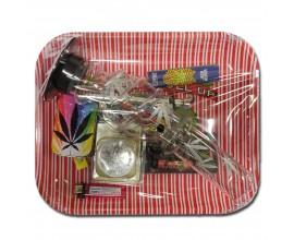 Smoking Gift Set - Large Rolling Tray & Large Waterpipe Gift Set - ROLL UP - BTSET-04