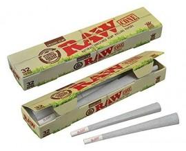 RAW - Organic Kingsize Cones 32 Pack - RAWC32-ORG