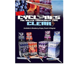 Cyclones - Clear Flavoured Cones (24 x 1) - CC