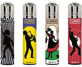 Clipper Lighters | Music Generation 2 | Tray of 40 | CLIPMUSGEN2